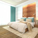 Wooden bedroom interior modern design