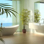 Modern Luxury Bathroom Design Interior by the sea