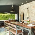 dining room. rustic furniture