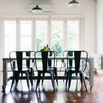Gorgeous vintage styled dining room with bifold doors