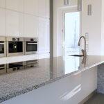 Granite countertop in a modern kitchen