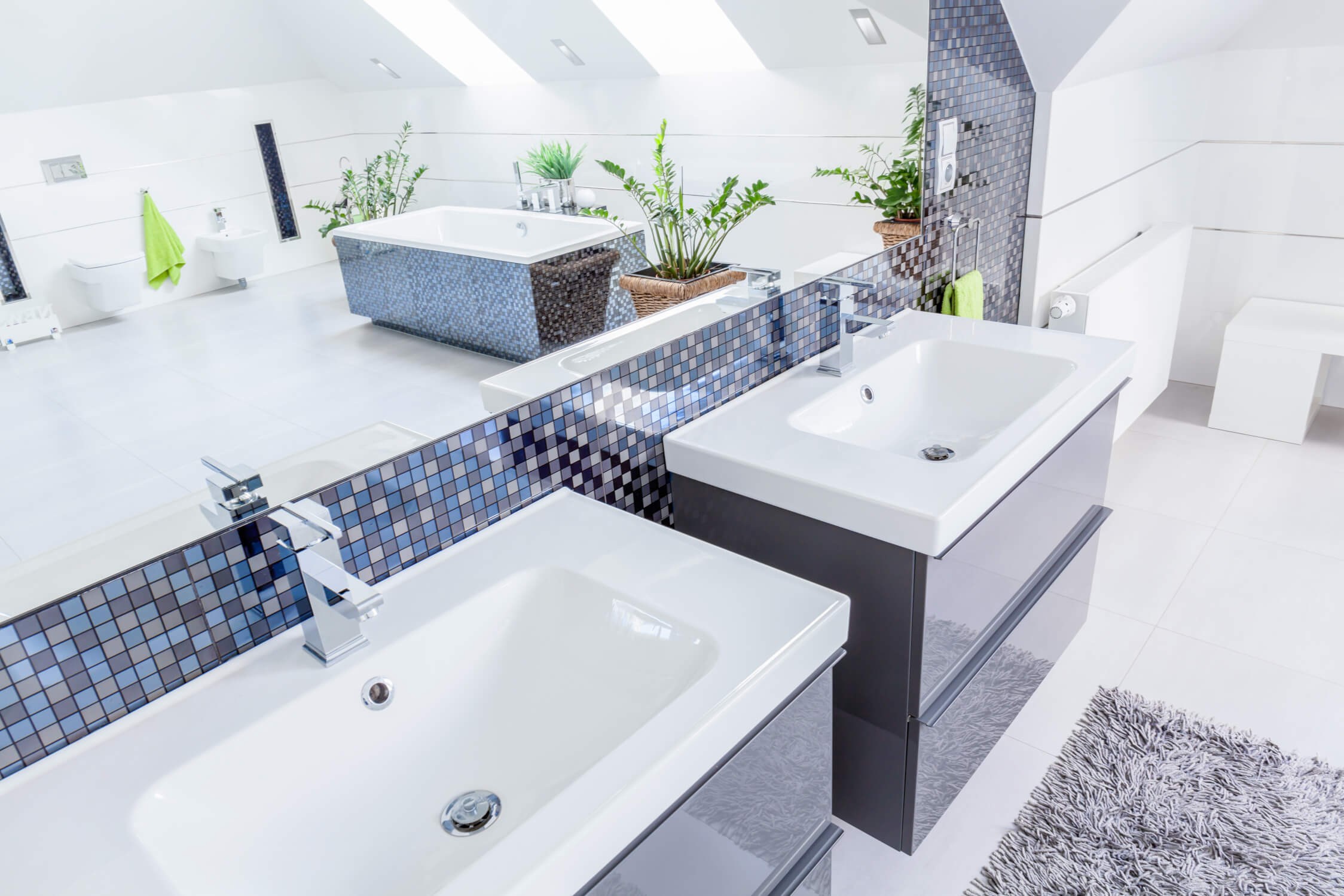 Tile in every shape and size residential design services did you know that a large tile in a small room can translate into the room looking larger this is an especially nice usage of large tile for small dailygadgetfo Gallery