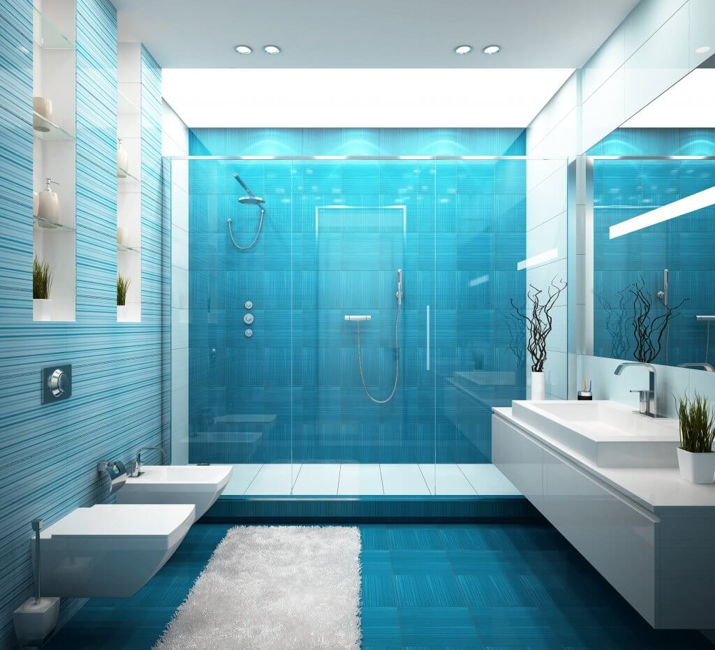 Contemporary Coastal Master Bath Residential Design Services