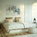romantisches Schlafzimmer in altem Loft - romantic bedroom in old loft apartment downtown