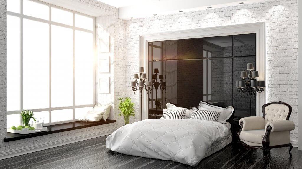 beautiful modern bedroom interior
